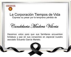 Condolencias Asociado Eduardo García Martelo.